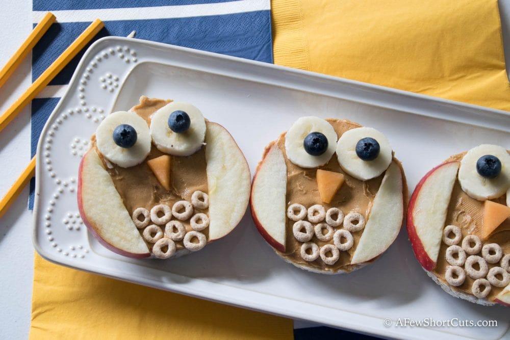 Owl Rice Cake Snack 1 3 A Few Shortcuts