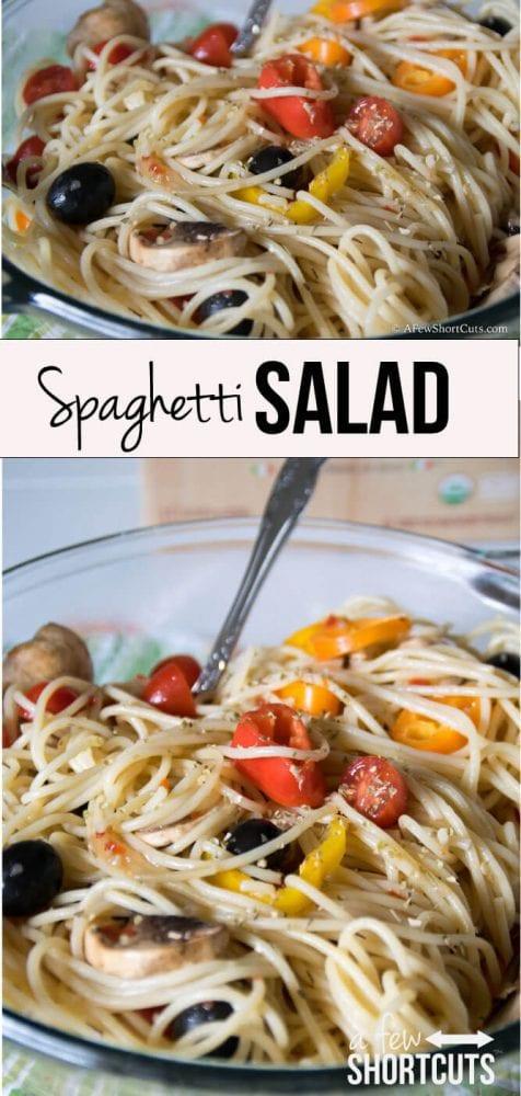 Quick, easy, delicious Spaghetti Salad Recipe