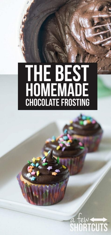 This is absolutely THE BEST Homemade Chocolate Frosting Recipe EVER! Plus you can make it dairy free! This is a must have recipe!