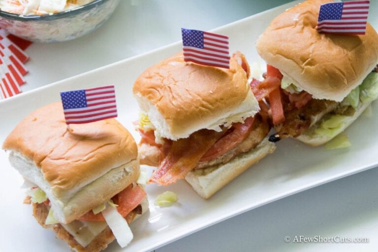 Grilled Chicken Bacon Sliders - A Few Shortcuts