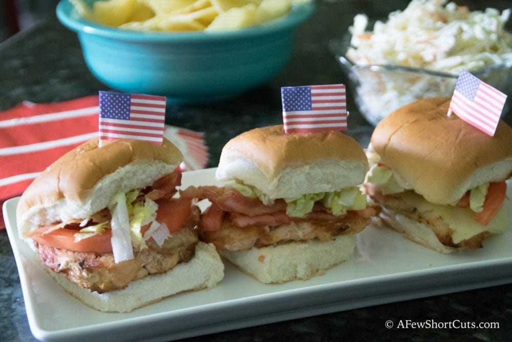 Tyson Grilled Chicken Bacon Sliders-1-8 - A Few Shortcuts