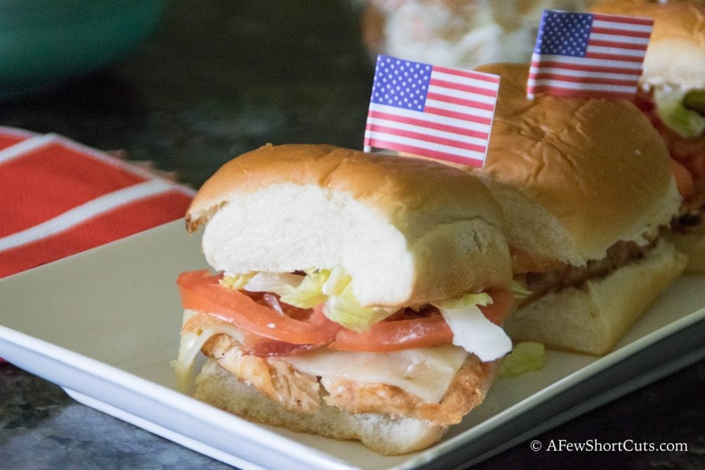 Pull out the grill this labor day and grill legendary with this simple Grilled Chicken Bacon Sliders Recipe!