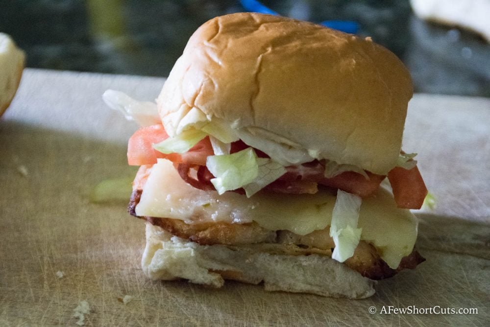 Tyson Grilled Chicken Bacon Sliders-5 - A Few Shortcuts