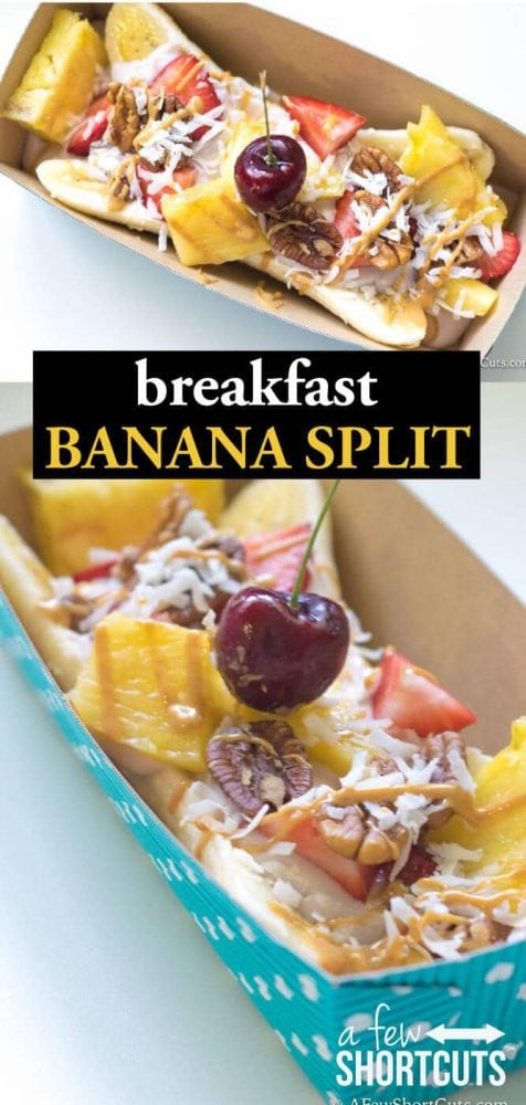 Such a fun twist on breakfast! Make a dessert classic healthy! Hello Breakfast Banana Split! Find out just how simple this recipe is!
