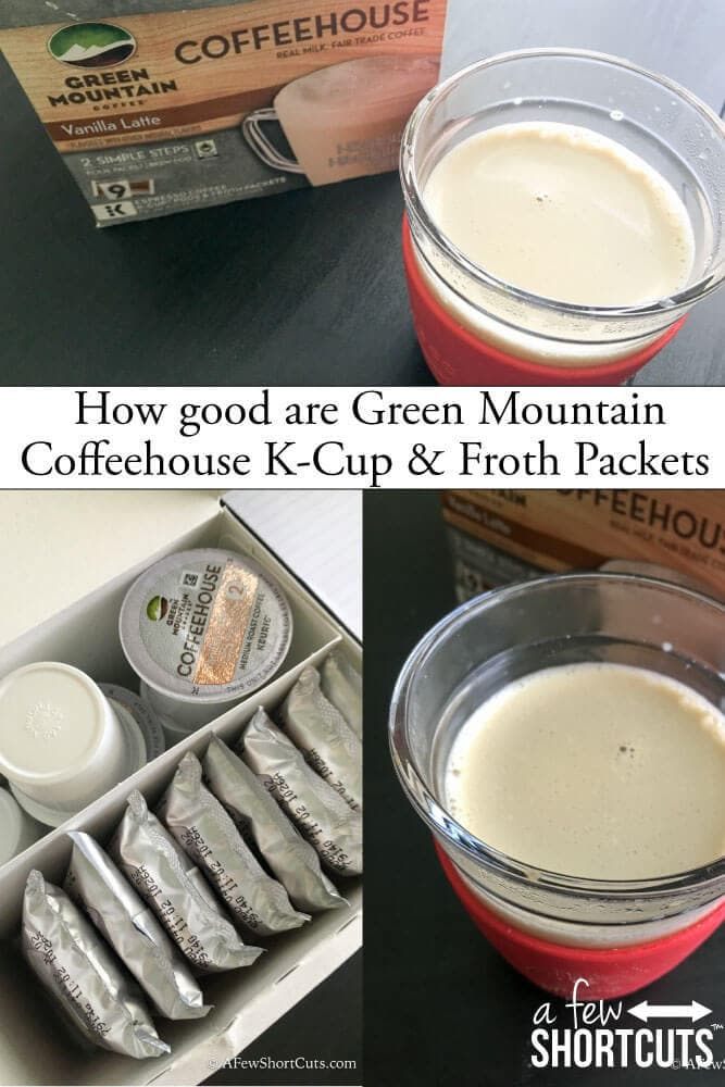 How good are the Green Mountain Coffee house K-Cup & Froth Packets.  See how these coffee drinks stack up!