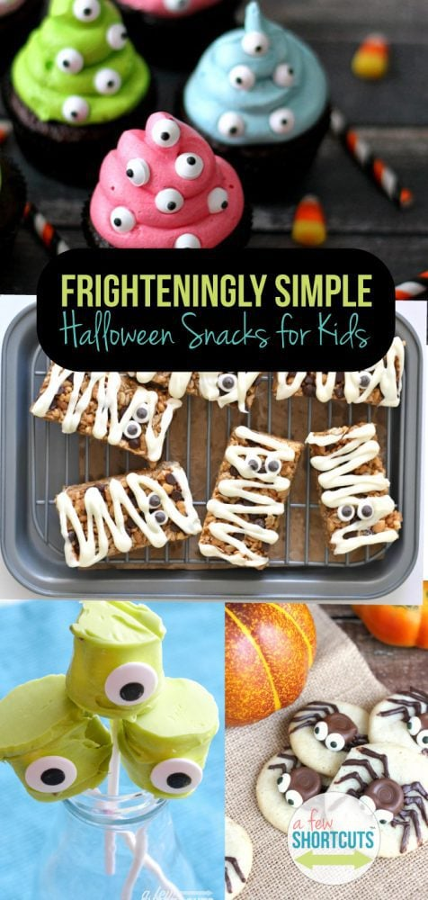 There are some seriously cute Halloween Snack ideas & recipes out there, but I don't want to spend hours in the kitchen. Chances are, neither do you. You must see these Frighteningly Simple Halloween Snacks for Kids that are sure to make your little monsters scream with delight!