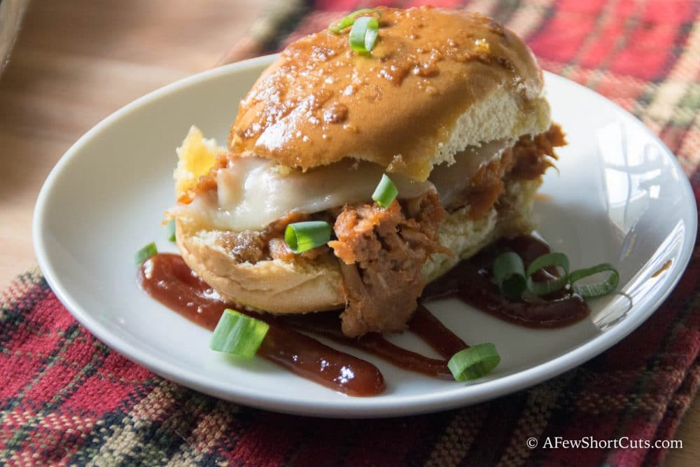 Game day, holidays, or any get together isn't complete without these Pulled Pork party Sandwiches! Such an easy recipe!