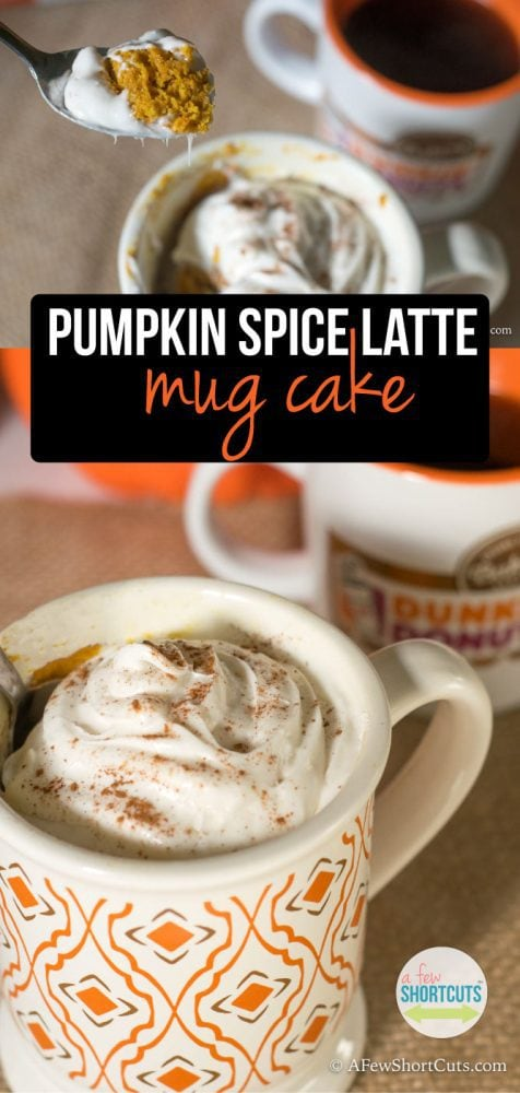 How perfect for FALL is this?! Check out this AMAZING Pumpkin Spice Latte Mug Cake recipe! It takes just minutes to make!