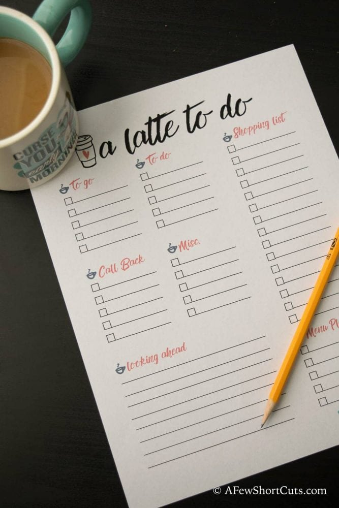 Do you have a latte to do? Check out these 7 things you can do while drinking your coffee plus a FREE PRINTABLE to do list!