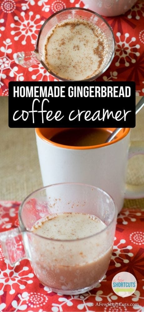 You don't want to miss out on enjoying some of this Homemade Gingerbread Coffee Creamer in a cup of hot coffee, or even in your favorite recipes! Such a simple recipe!