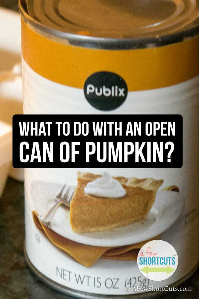 So you opened a can of pumpkin for a recipe and you didn't use it all. You don't want to waste it and throw it away, but what do you do with an open can of pumpkin? Find out now!