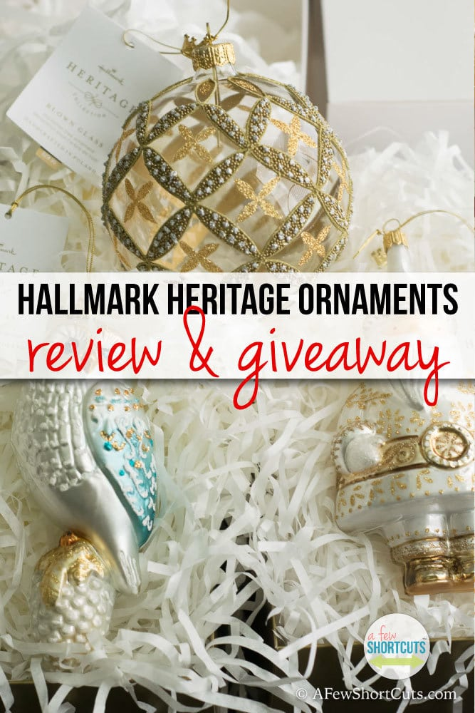 Hallmark Heritage Ornaments Review & Giveaway #LoveHallmark