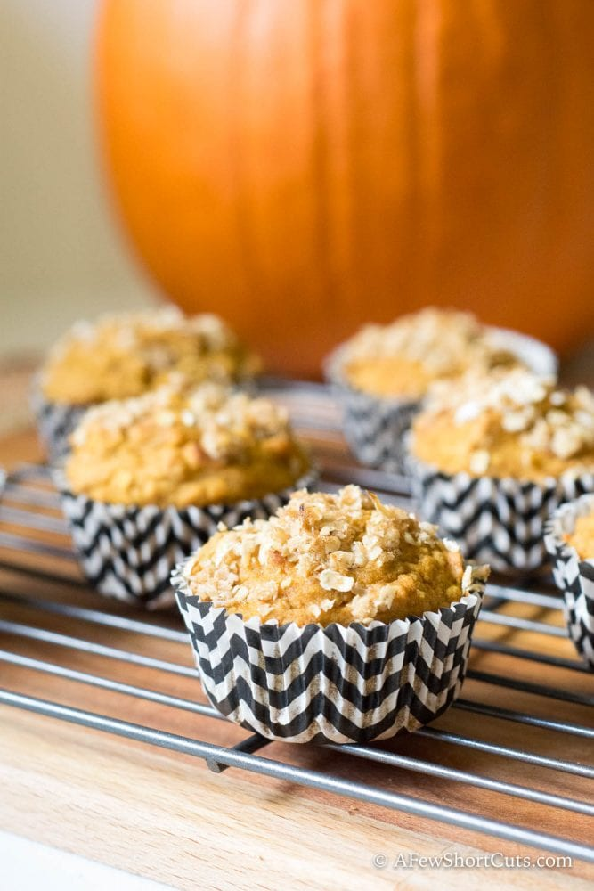 These no fail Pumpkin Streusel Muffins are a must bake fall recipe! These are perfect for a quick breakfast or snack and can even be frozen for later! Also can be made gluten free and dairy free!