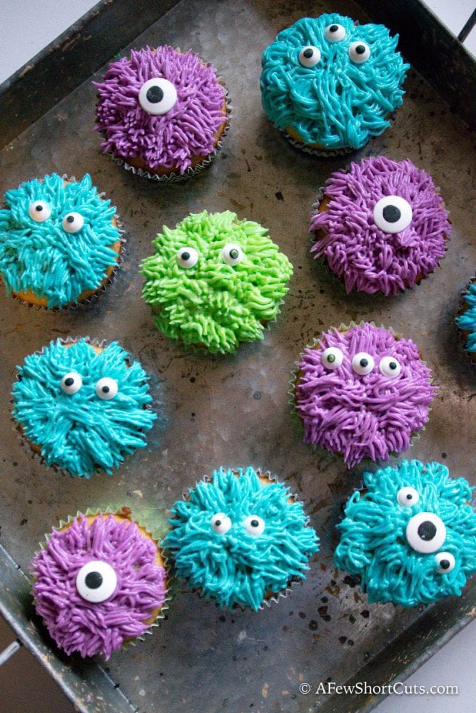 These fun treats are so simple to make you will want to make them year round, not just for Halloween! Check out how easy these Monster Cupcakes are to make!