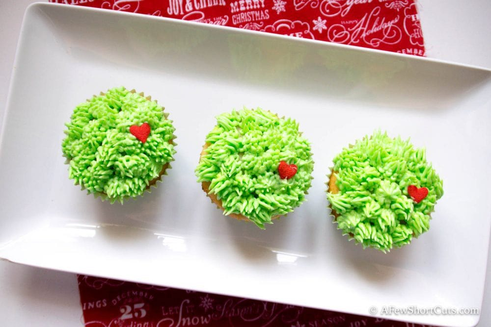 Grinch Cupcakes 1 2 A Few Shortcuts