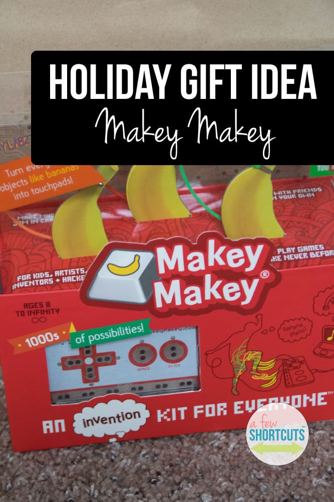 Need a great holiday gift idea for kids that are really into electronics and computers? Check out this Makey Makey. It turns everyday items into controllers!