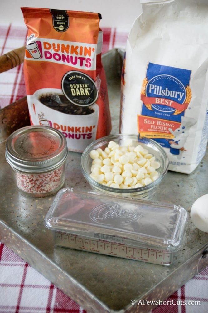 A decadent holiday treat with a cup of Dunkin Donuts Coffee! You must try this AMAZING White Chocolate Peppermint Latte Scones Recipe
