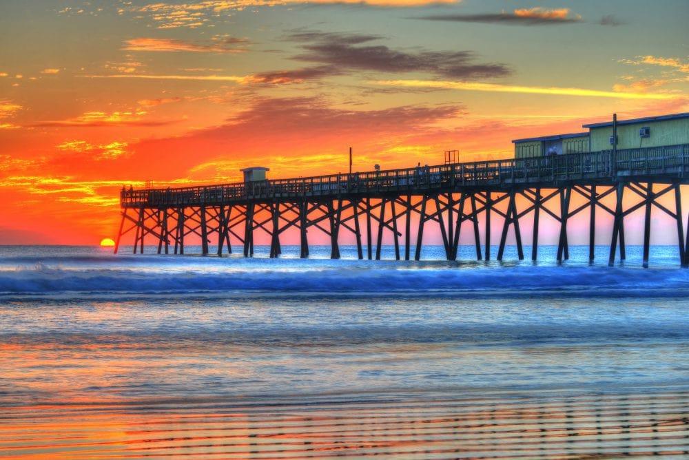 Sunglow pier sunrise