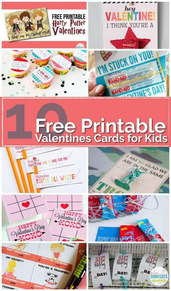 Do what all the cool kids are doing and check out this roundup of 10 Free Printable Valentines Cards for Kids. There is something for everyone.