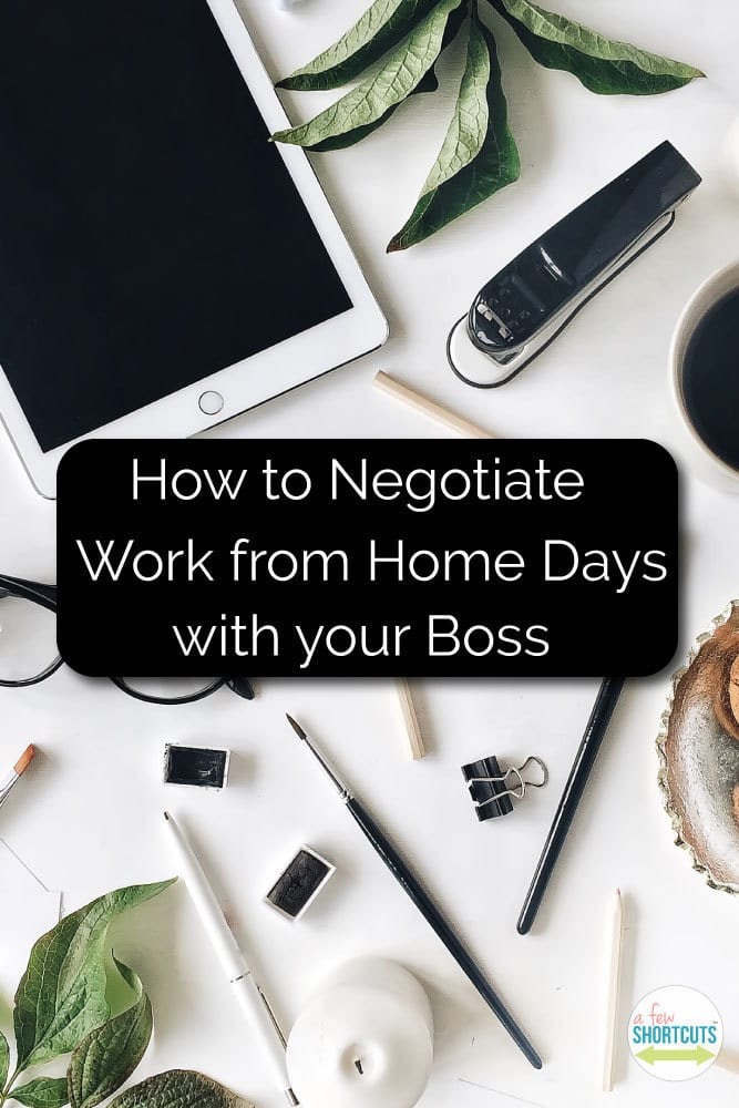 Working from home can be great for employees and the employer. Find out How to Negotiate work from home days with your boss!