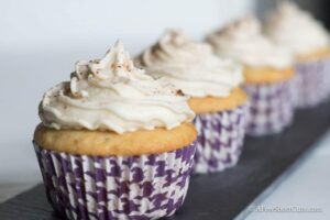 Vanilla Latte Cupcakes with Coffee Buttercream
