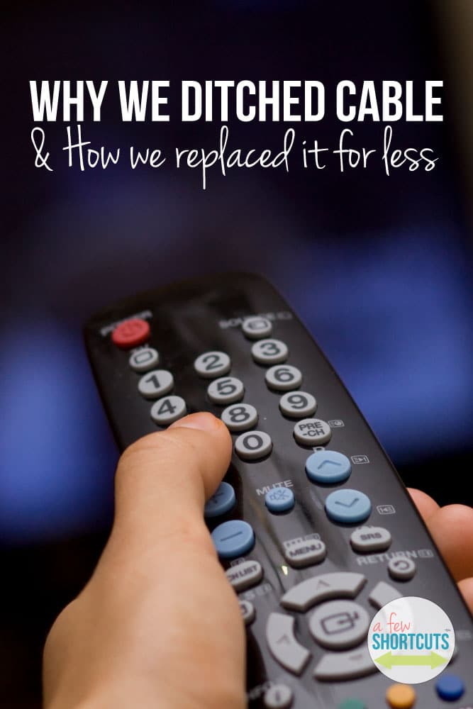 Find out why we ditched cable and how we replaced it for less! We are saving $840 a YEAR and still watching the shows that we love!