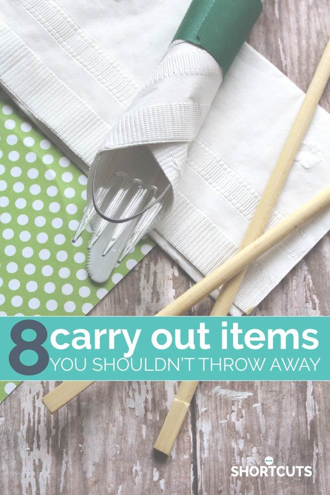Don't waste anything! See this list of 8 Carry Out Items you shouldn't throw away and how to reuse them every day to give them a new life.