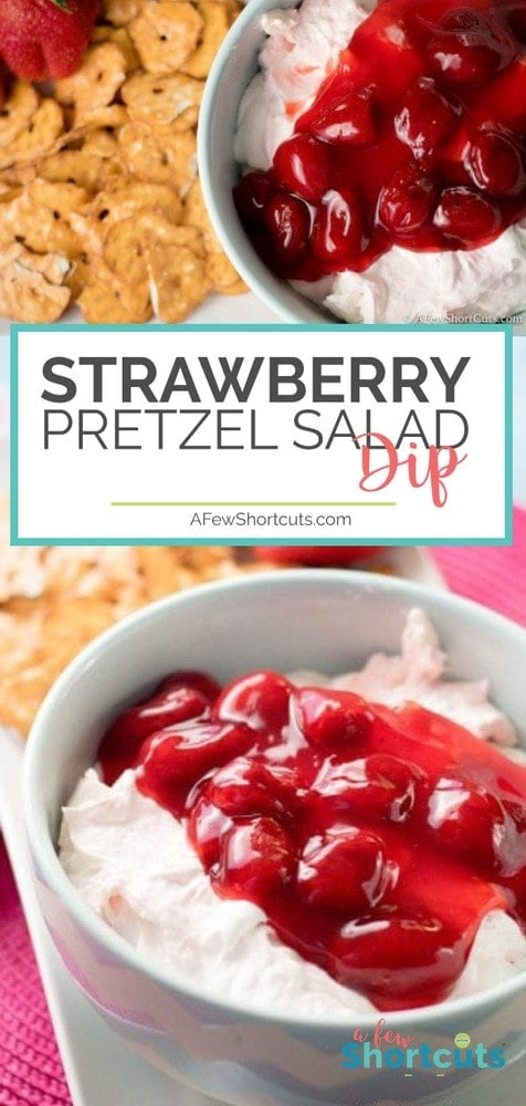 This dessert dip recipe is oh so good! You must try this Simple Strawberry Pretzel Salad Dip! It's easy enough to make for any day of the week!