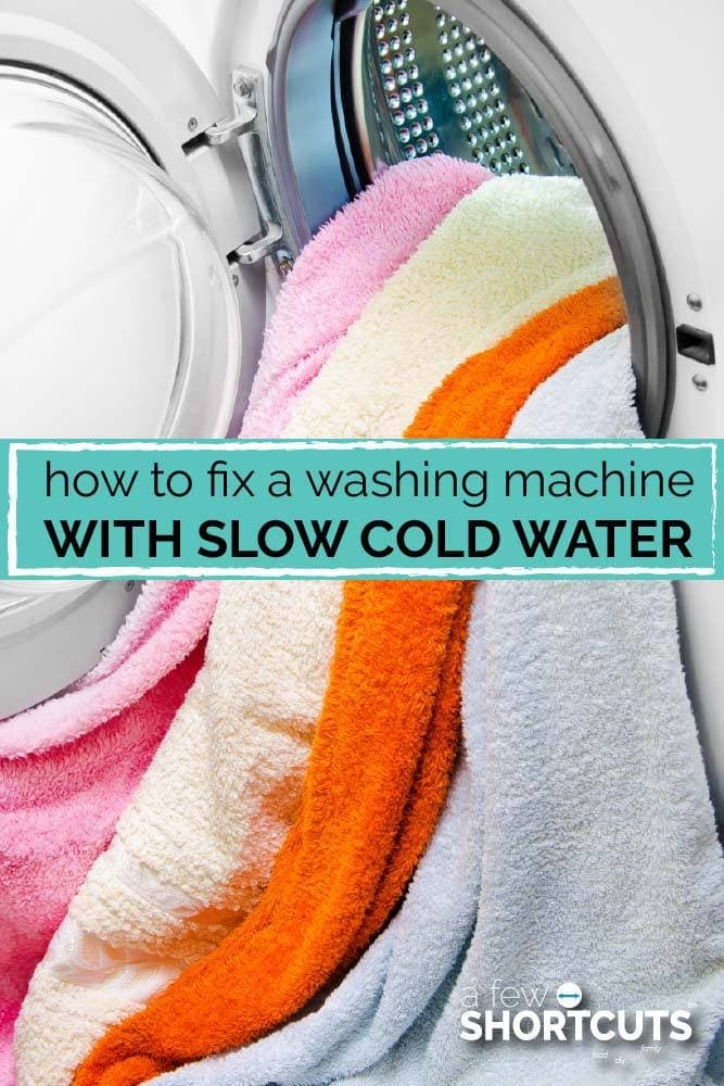 Trying to do your laundry and the cold water isn't working right? Learn How to fix a Washing Machine with Slow Cold Water in just minutes!