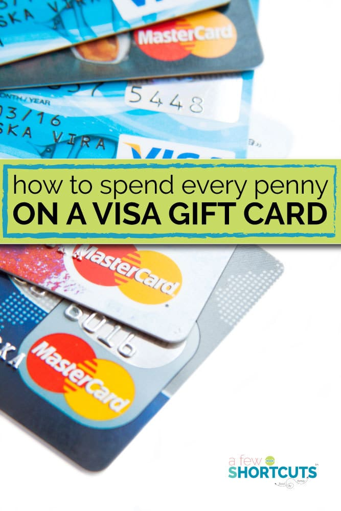 mastercard gift card pin how to spend every penny on a visa gift card a few shortcuts 5088