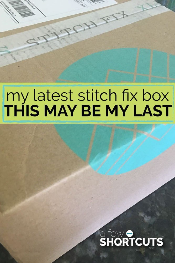 See what came in my latest stitchfix box and find out why this may be my last!