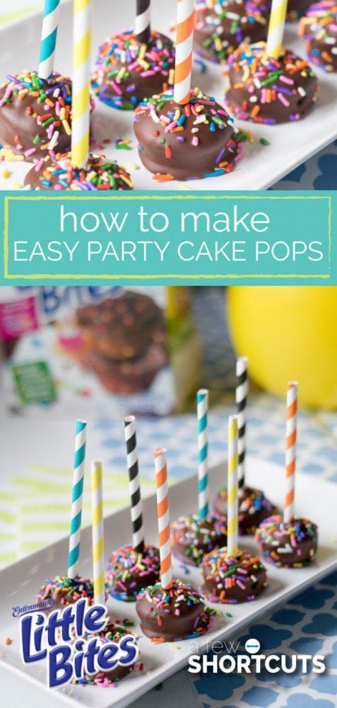 Don't spend hours in the kitchen! Learn how to make easy party cake pops! There is always a reason to celebrate!