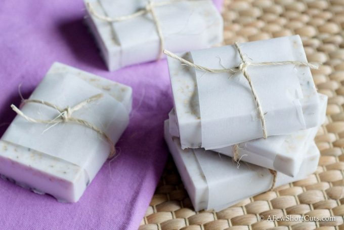 Find out how to make this Lavender Oatmeal Goat Milk Soap. It is some of the best soap you will ever use! Great for calming dry itchy skin.
