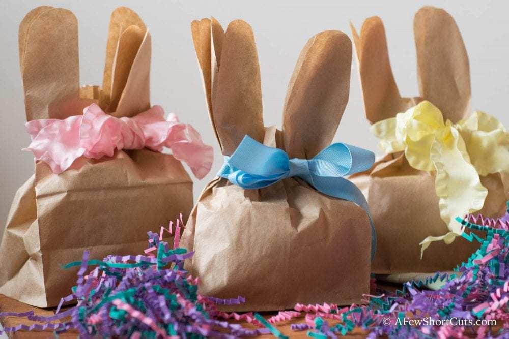 DIY Paper Bag Bunny Treat Bags - A Few Shortcuts