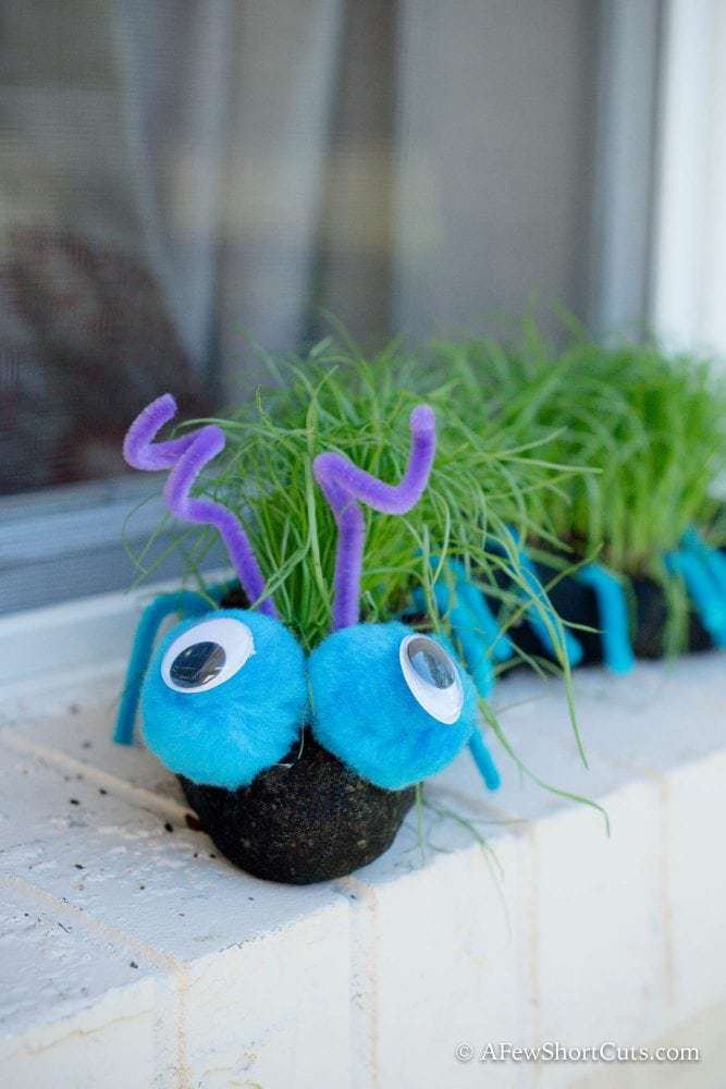 DIY Grass Caterpillar