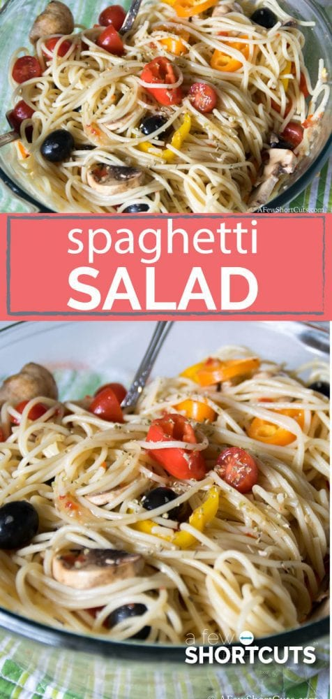 I love making this Simple Spaghetti Salad Recipe in the Spring/Summer. This is light and healthy as well as easy to make!