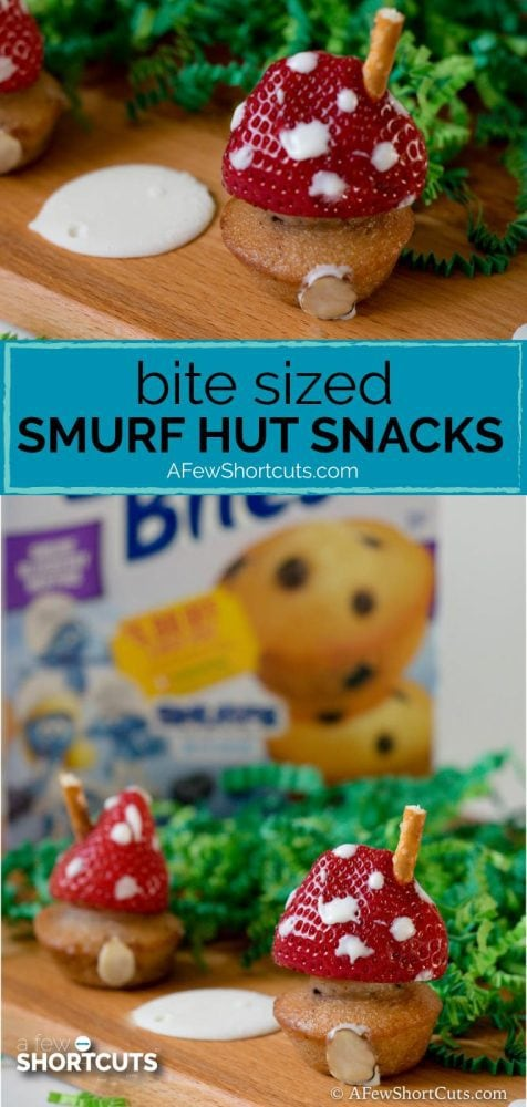 Celebrate the new Smurf The Lost Village Movie with these fun Bite Sized Smurf Hut Snacks made with Entenmann's® Little Bites®!
