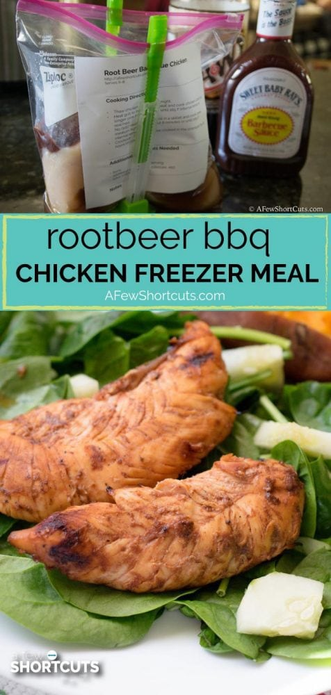 Perfect for the grill this Root Beer BBQ Chicken Freezer Meal is full of flavor and can be cooked with a skillet and in the crockpot too!