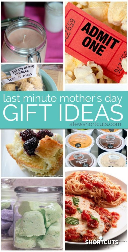 Running out of time?! Check out these simple and fun Last Minute Mothers Day Gift Ideas that Mom will Love! There are even some homemade options! #mothersday #giftideas