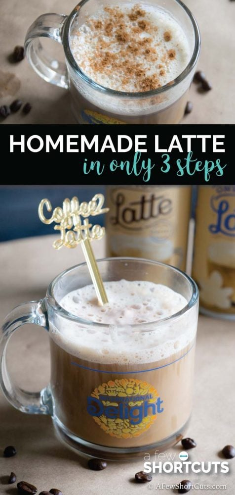 No fancy equipment, no drive through line to wait in, no expensive coffee shop tab. Make a delicious Homemade Latte in just 3 steps.