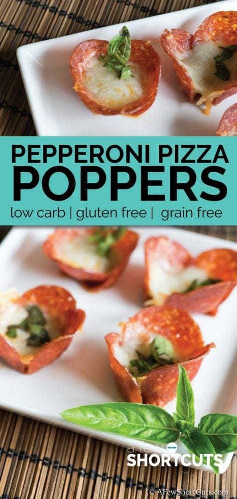 Looking for a low carb appetizer that still tastes amazing? Try these simple Pepperoni Pizza Poppers that are ready in only minutes!