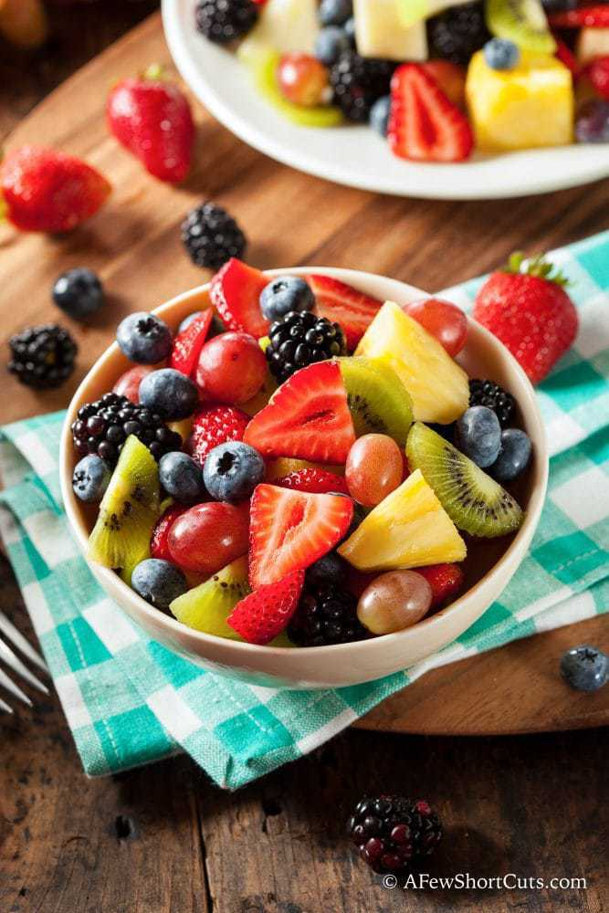The ultimate summer side dish or tasty breakfast. Try this easy Colorful Honey Lime Fruit Salad Recipe for your next get together.
