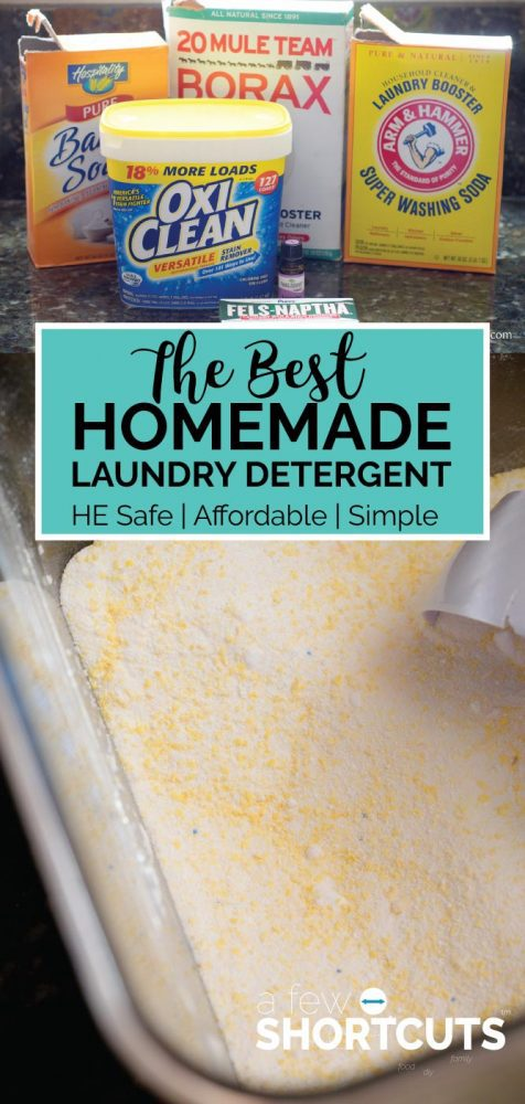 6 Loads of Laundry for the Price of 1. It is possible and simple with the Best Homemade Laundry Detergent Recipe. Safe for High-Efficiency Machines too!