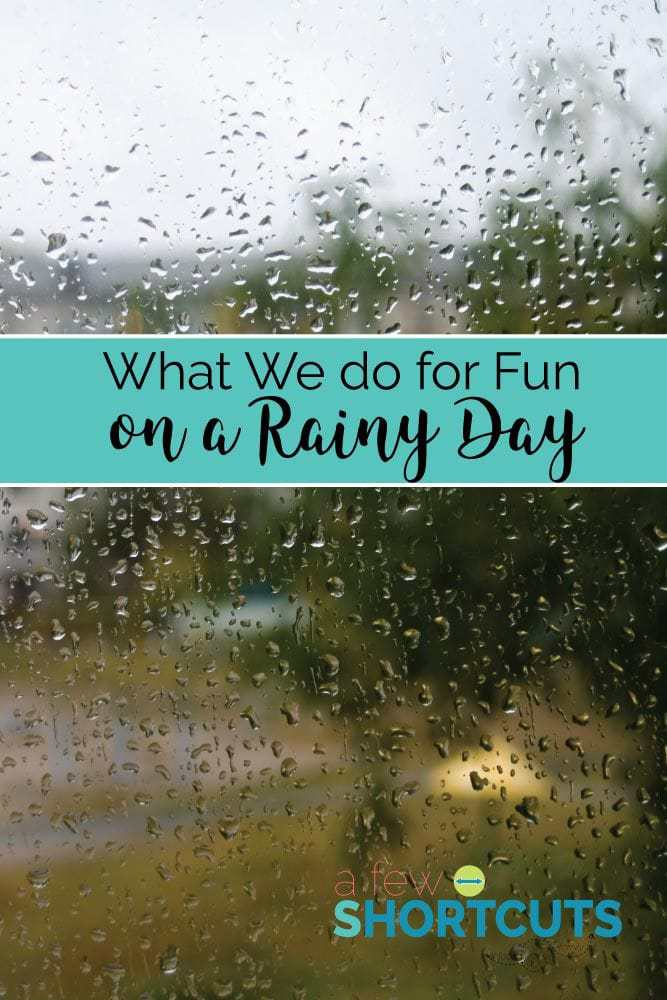 Need something to keep the kids busy? Check out what we do for fun on a rainy day!