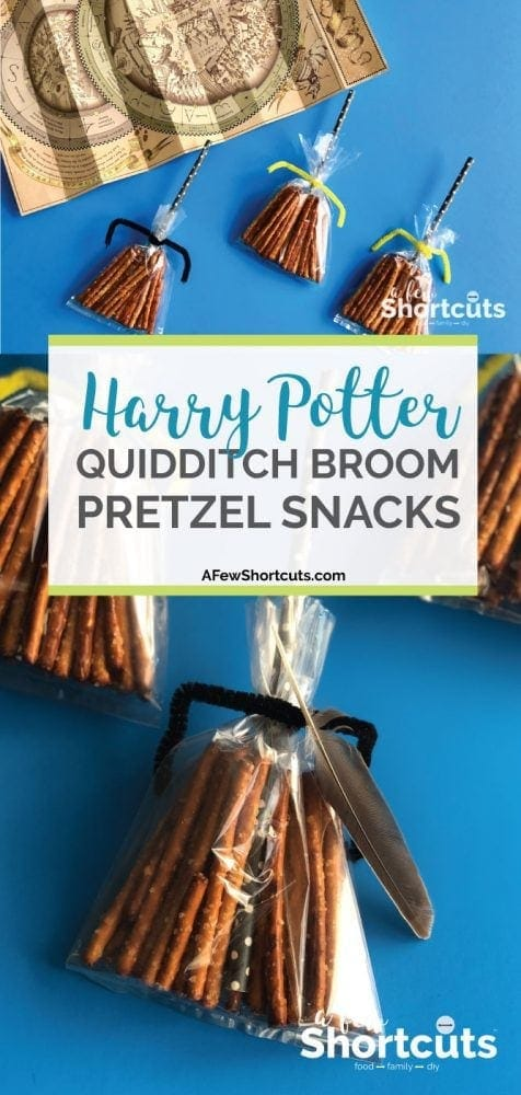 I am telling you these are so simple, but so much fun! You have to make these Harry Potter Quidditch Broom Pretzel Snacks the next time you watch Harry Potter!