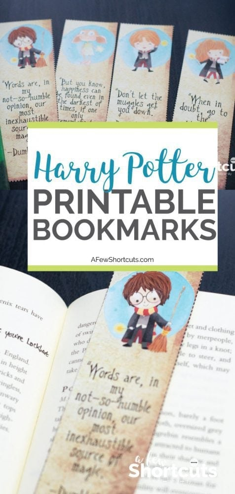 Free Harry Potter Printable Bookmarks A Few Shortcuts