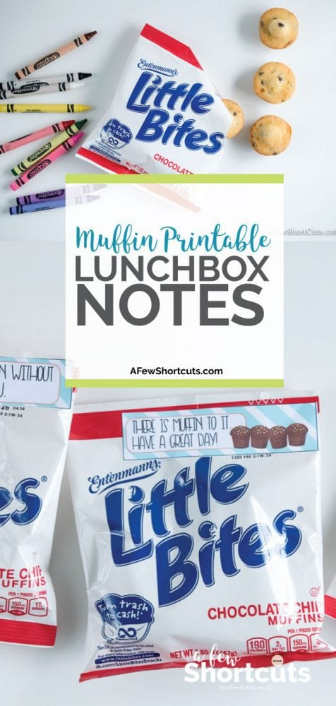Pack a little bit of fun with these Free Muffin Printable Lunchbox Notes! They are perfect for on a pouch of Entenmann's Little Bites Muffins!