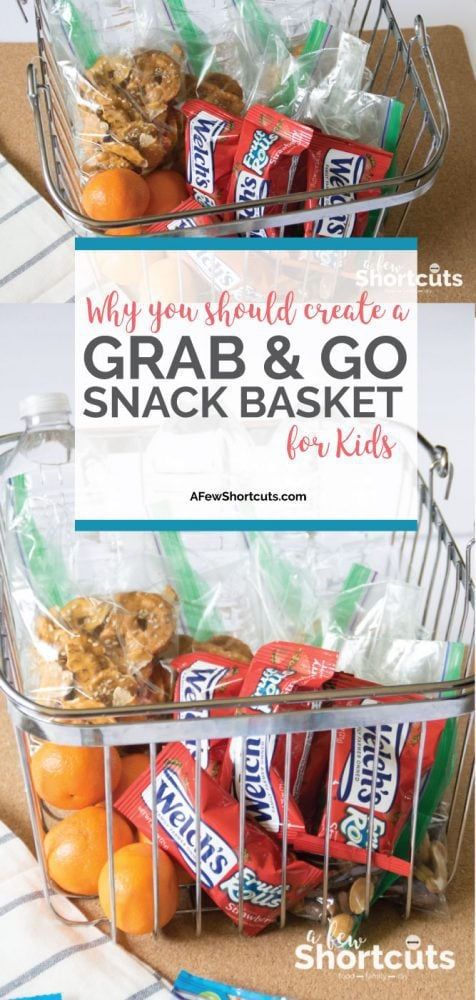 Don't leave the house hangry! Simplify and learn Why you should create a grab & go snack basket for kids and how easy they are to make!