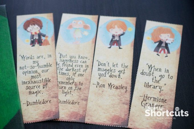 graphic regarding Harry Potter Printable Bookmarks identified as No cost Harry Potter Printable Bookmarks - A Pair Shortcuts