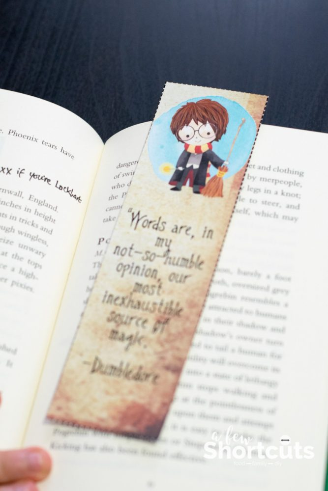Harry Potter Bookmarks : Free harry potter printable bookmarks a few shortcuts